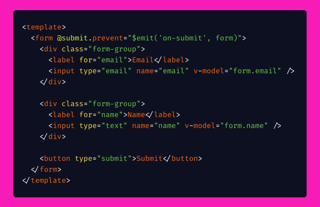Reusable form code